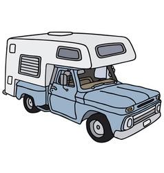Old small caravan vector