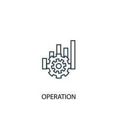 operation concept line icon simple element vector image
