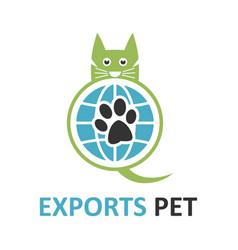 pet export logo vector image