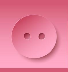 pig nose on pink background vector image