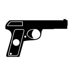 Pistol simple icon vector image