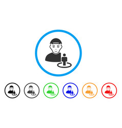Portal administrator rounded icon vector