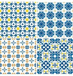 Portuguese tiles set vector