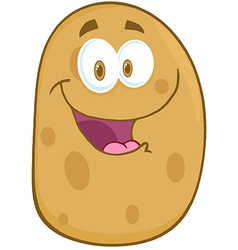 Potato Cartoon Mascot Character vector