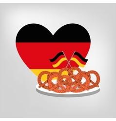 Pretzel german bread vector