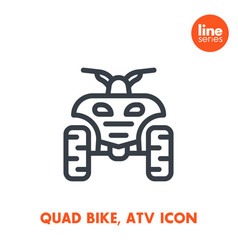 Quad bike line icon all terrain vehicle atv vector