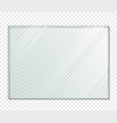 Rectangle piece glass with shadow vector