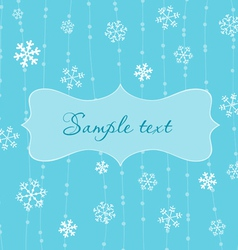 retro snowflakes card in blue vector image vector image