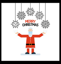 Santa claus old man character in red with his vector