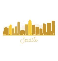 Seattle city skyline golden silhouette vector