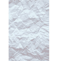 sheet of old crumpled paper crumpled paper vector image