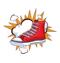 Sneaker and cloud vector