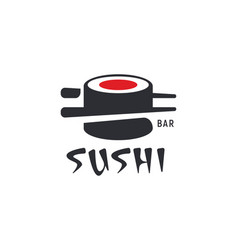 sushi and rolls with chopstick bar or restaurant vector image