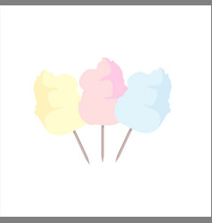 Sweet cotton candy vector