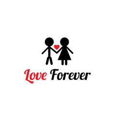 t shirt design with love forever message vector image