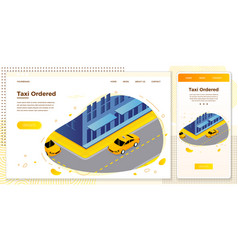 taxi cab riding for client vector image