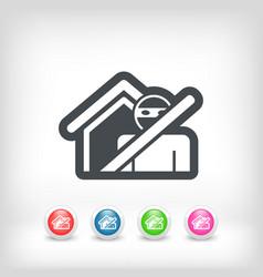 thief security icon vector image