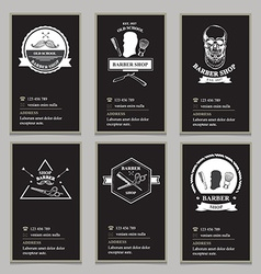 Visiting card design barbershop vector