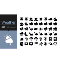 Weather icons gylph icon design for presentation vector