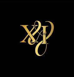 xi xi logo initial mark vector image