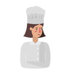young woman cook avatar character vector image