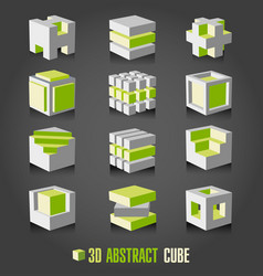 3d adstract cube vector image