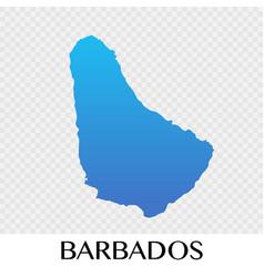 barbados map in north america continent design vector image vector image