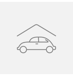 Car garage line icon vector image