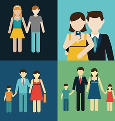 Family flat style people figures parenting parents vector image vector image
