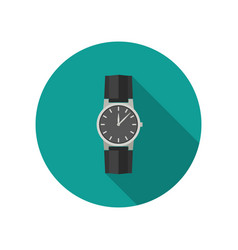 hand watch vector image vector image