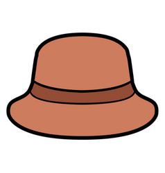 isolated summer hat vector image