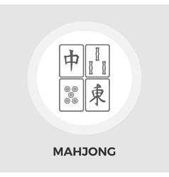 Mahjong flat icon vector image