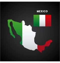 mexico country map vector image