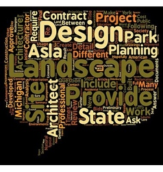 What is landscape architecture text background vector