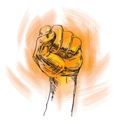 fist logo design template power vector image vector image