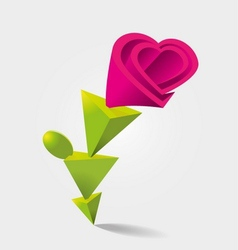 Flower Shaped vector image
