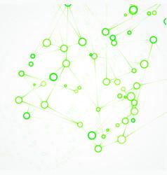 futuristic dna abstract molecule vector image vector image