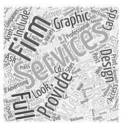 Professional graphic design word cloud concept vector