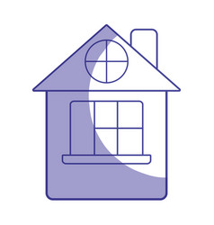 silhouette house with roof and window vector image vector image