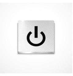 silver power button vector image