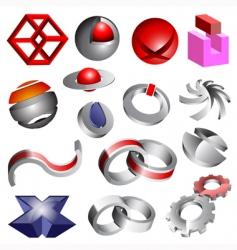 abstract 3d vector logos vector image vector image