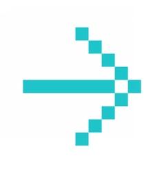Arrow icon direction digital sign pointer button vector image vector image