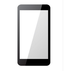 black smartphone on white background vector image vector image