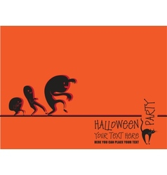 Invitation to halloween vector