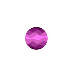 Isolated abstract purple color round shape logo on vector