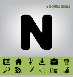letter n sign design template element vector image