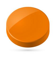 Orange disk isolated on white background vector