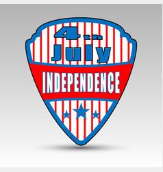Fourth july shield emblem vector