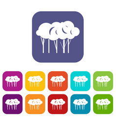 lot of trees icons set vector image vector image