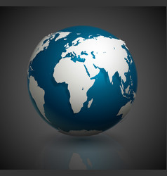 3d world globe icon vector image